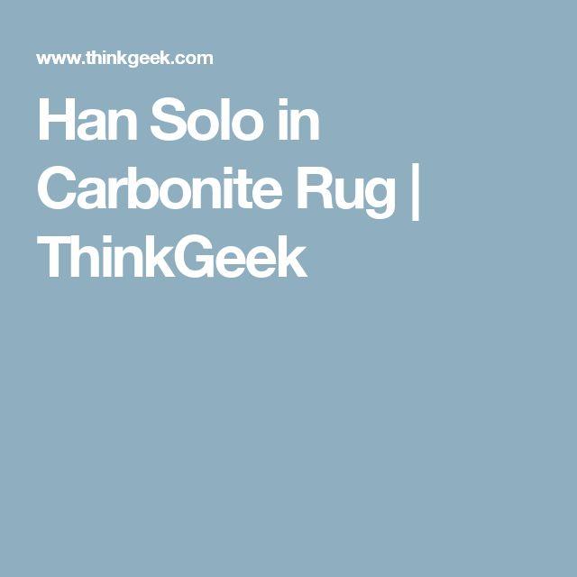 Han Solo In Carbonite Rug Thinkgeek
