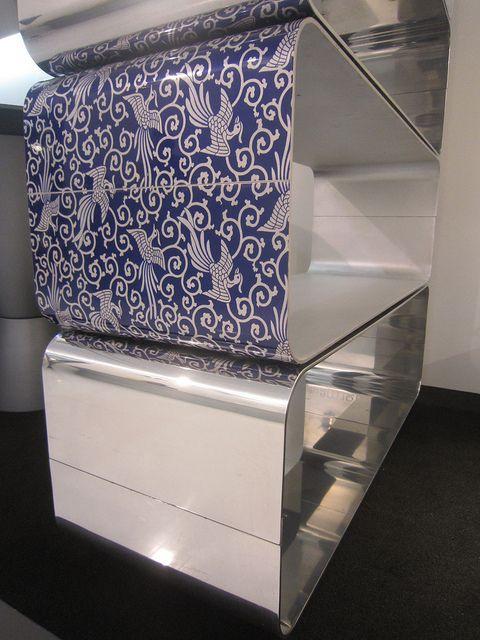 #brera bookcase kimono fenice finishing, design by Marco Piva for #altreforme, #district collection at Salone del Mobile 2011 #interior #home #decor #homedecor #furniture #aluminium
