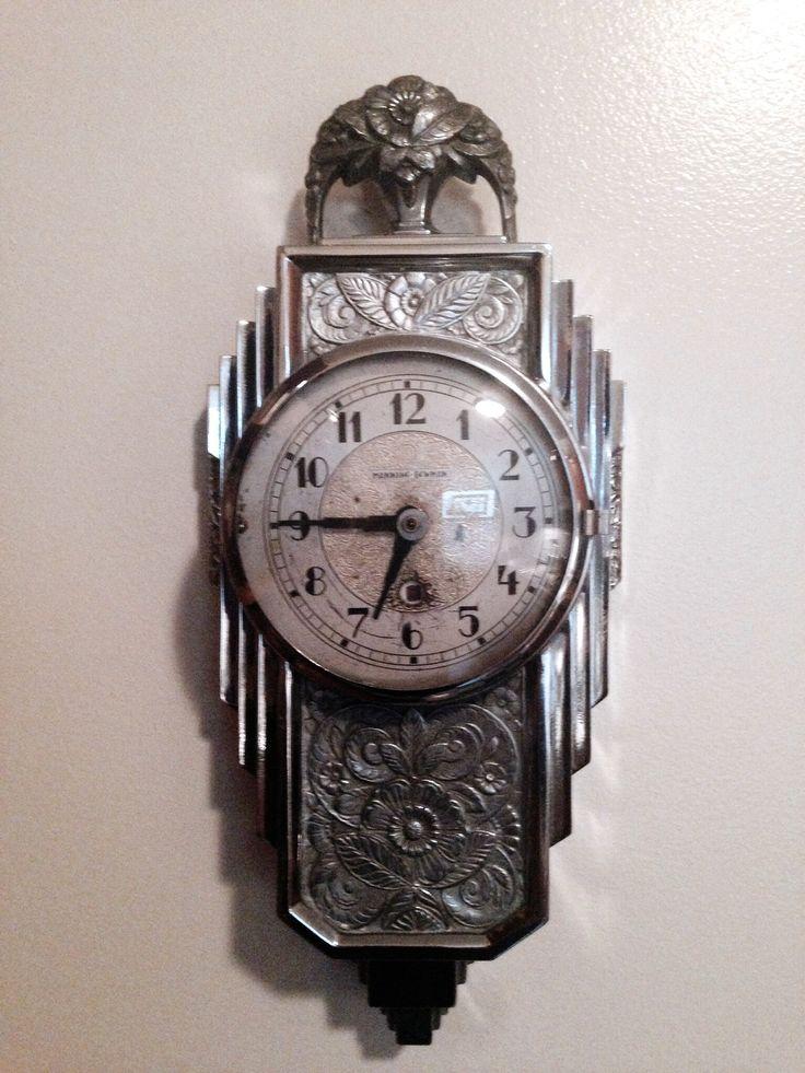 Art Deco Wall Clock by Manning Bowman