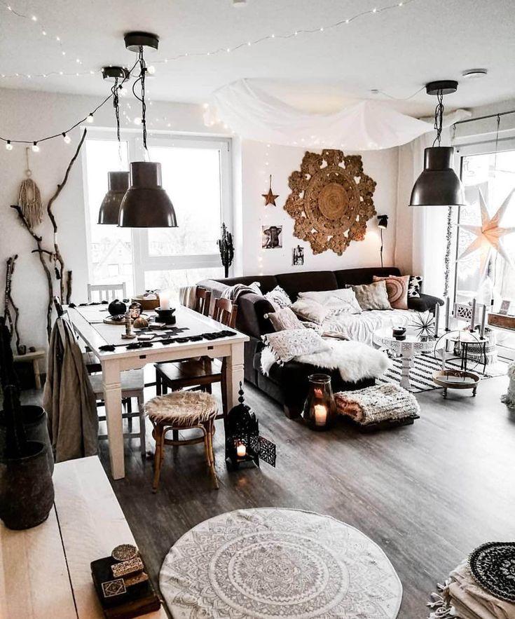 Motivierende böhmische Dekorationsideen für das Wohnzimmer
