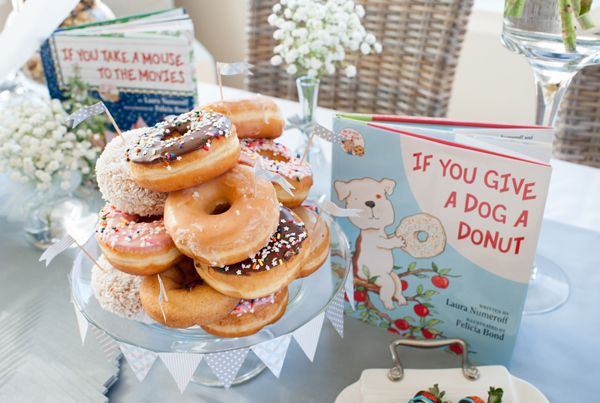 The most clever storybook baby shower you'll ever see on baby shower blog, Showerbelle.com.