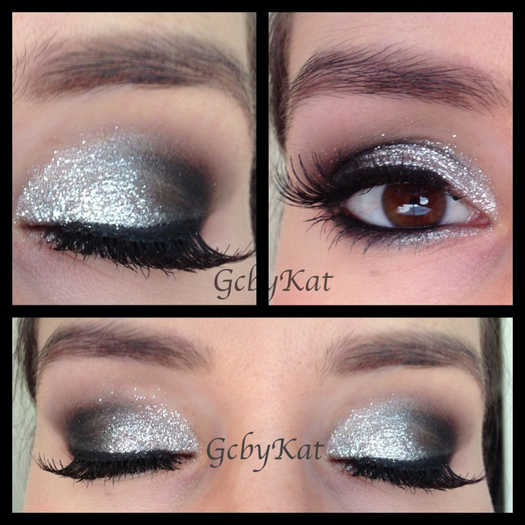 glitter eye makeup-mb for the white party