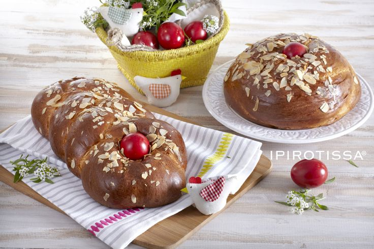 Traditional  Easter Brioche & Red Egg