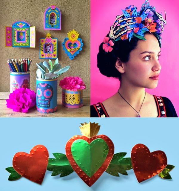 El Dia de los Muertos craft activity printable templates