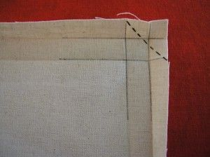 sewing 101: embroidered mitered napkins