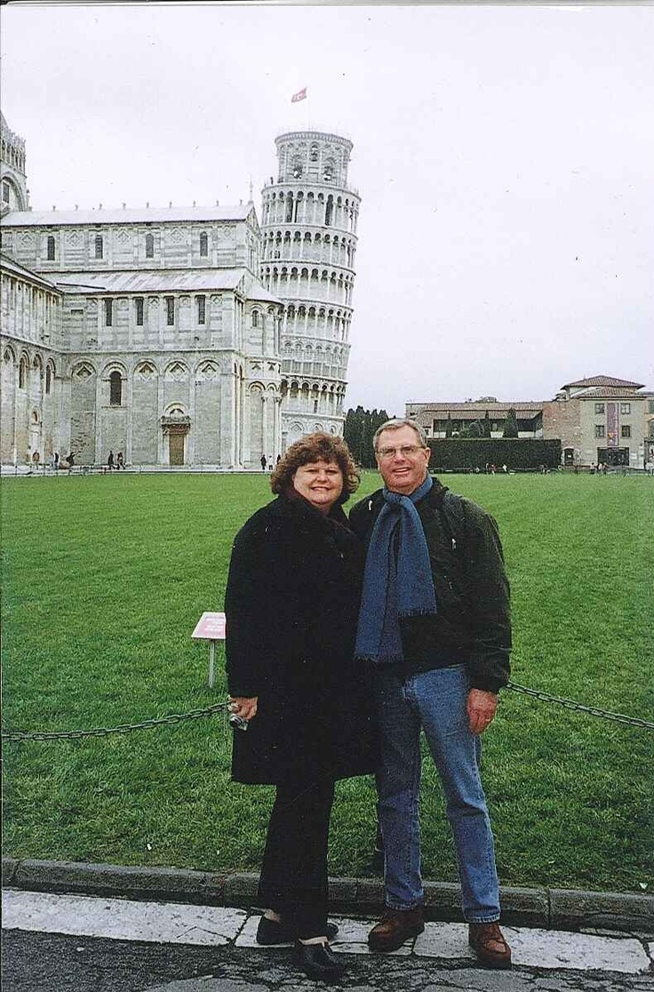 Kathy loves to travel. This is her & her husband Frank in Italy!