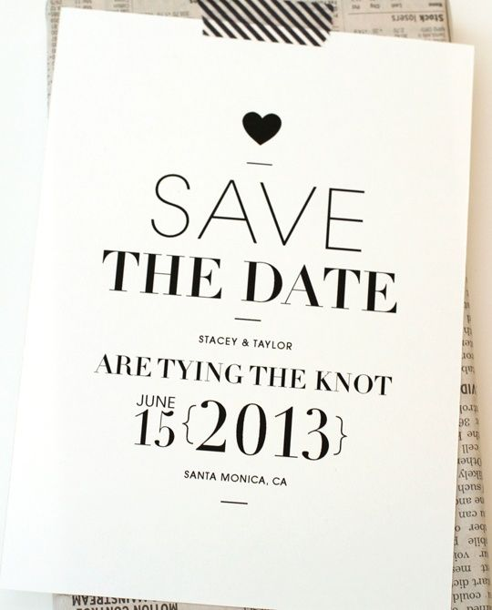 Wedding Invitation. Gorgeous use of fonts. Simple and sleek