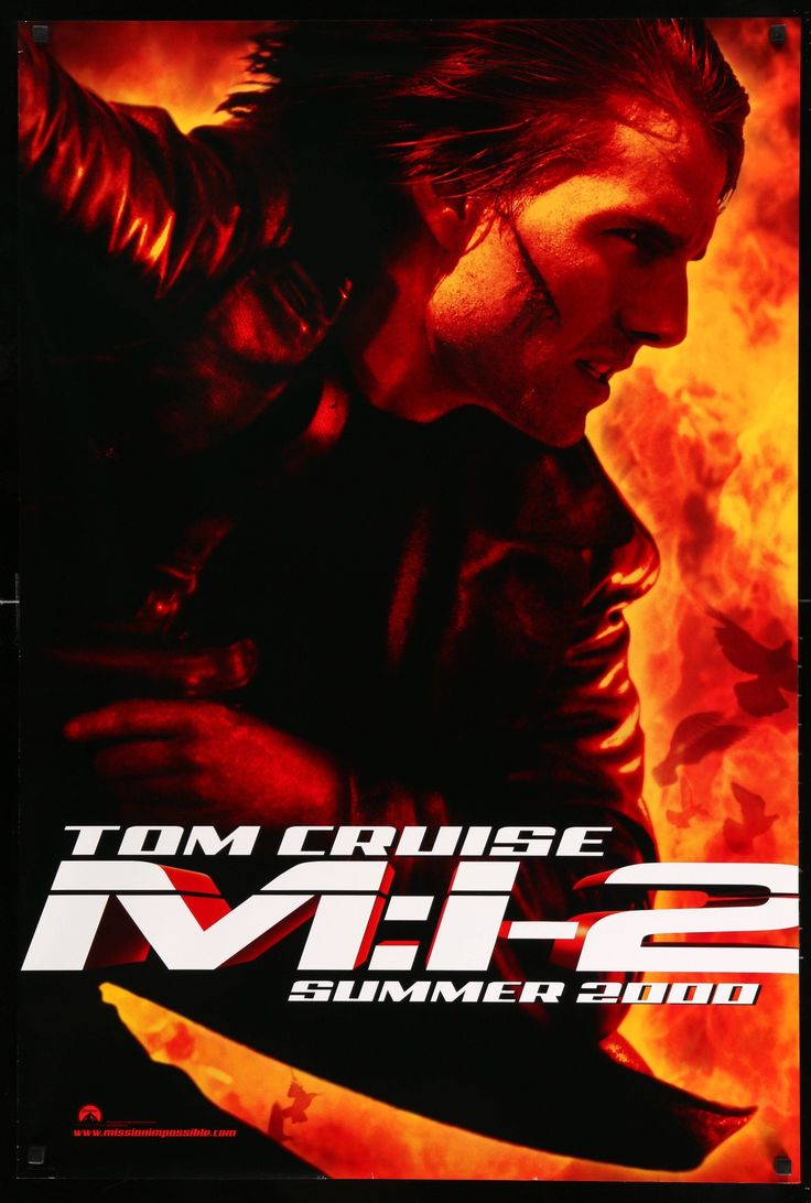 """Mission Impossible II (2000) Vintage Advance Movie Poster - 27"""" x 40"""""""