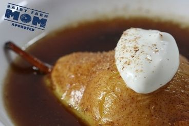 During the coolest months, pears are at their peak and this dessert compliments them with seasonal spices and creamy yogurt. Simple yet elegant enough for the holidays – have them baking when guests arrive for the heavenly aroma.