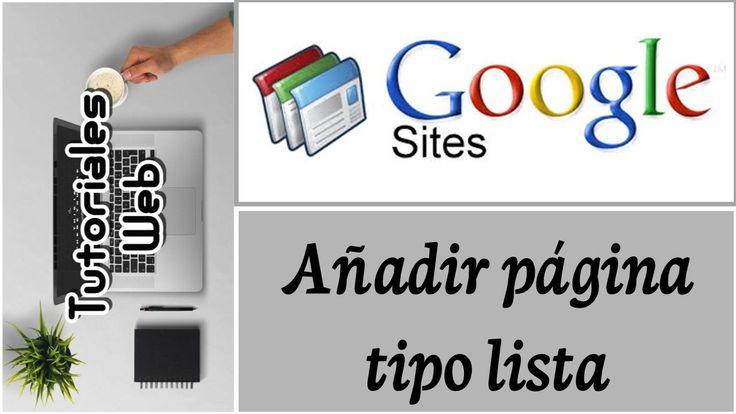Google Sites Clásico 2017 - Añadir página tipo lista (español)