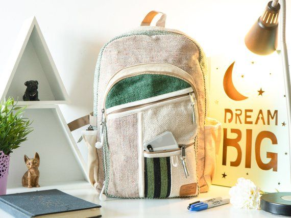 Pure Hemp Backpacks with Top durability. Dimension…