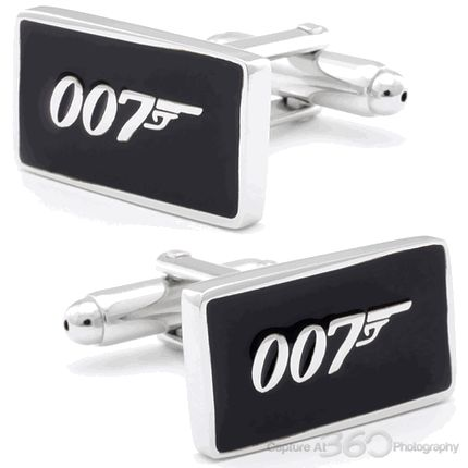 Black Bond 007 Sign Cufflinks, Fine Men's Jewelry from Cufflinksman