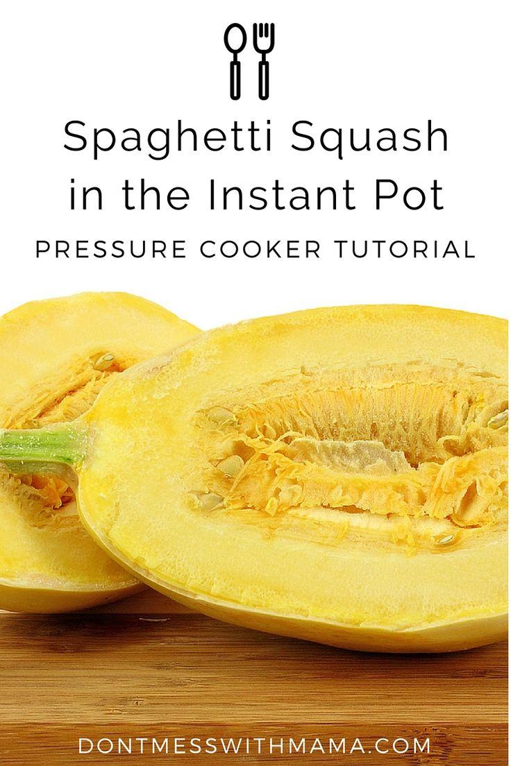 Spaghetti Squash In The Instant Pot Pressure Cooker