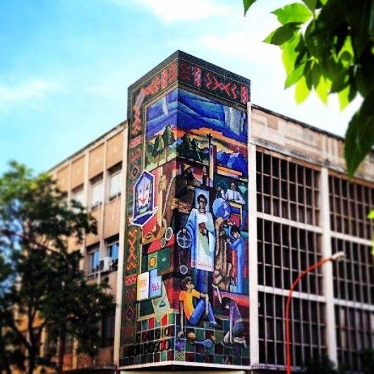 Mural realizado en Mayolicas, Bahia Blanca, prov. De Bs. As., Argentina
