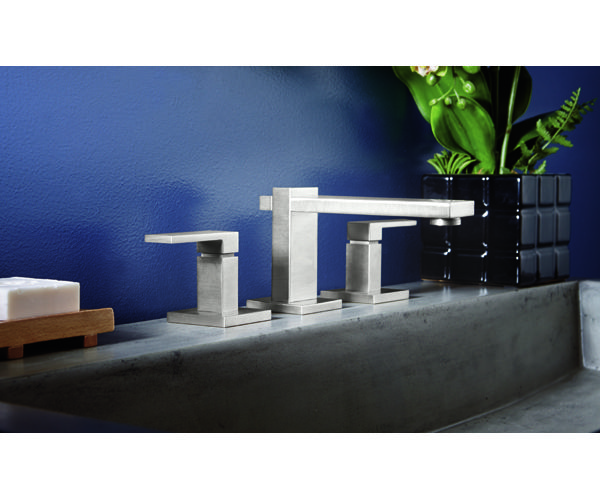 7702 Morro Bay from California Faucets.  Contemporary Bathroom Faucet with clean lines.