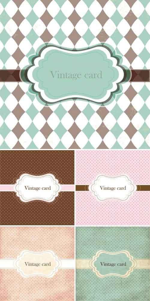 Vectores Vintage Cards Tarjetas Antiguas
