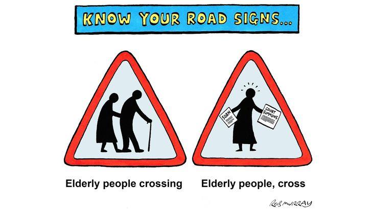 Image result for road sign elderly crossing