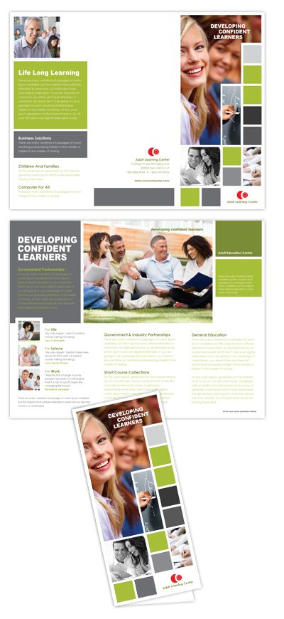 Adult Education Tri Fold Brochure
