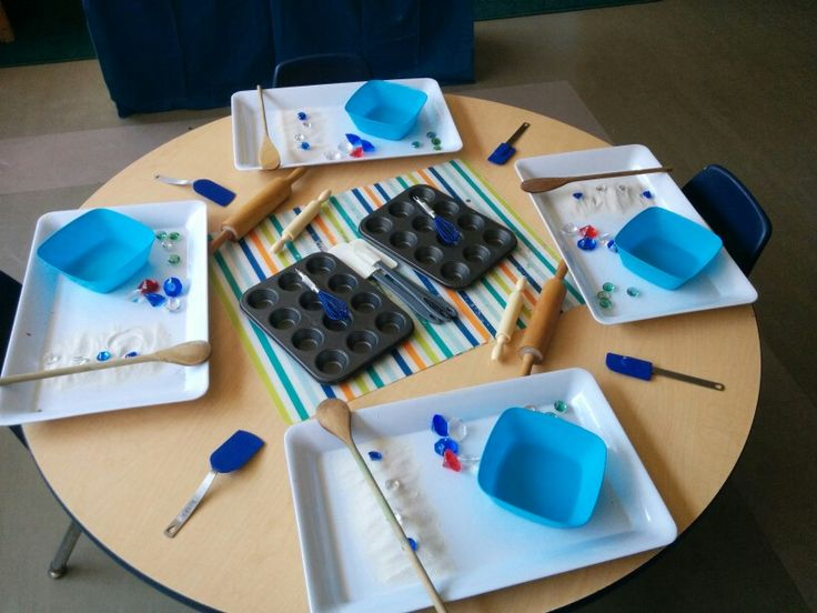 Sensory play - sand and water mixture + Jewls and add ons