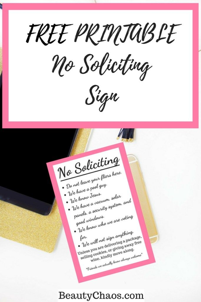 image about Free Printable No Soliciting Sign called No cost Printable No Soliciting Indication Least complicated of Attractiveness Chaos