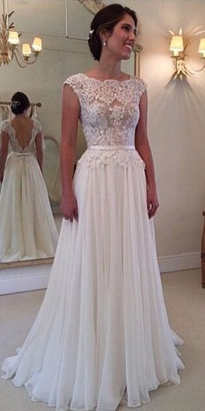 Long White dress with lace patchwork,and the backless show your beautiful bake to others,which make you sexier,you can choose one to your party or weddings of your friends,you will be look elegant and attactive.