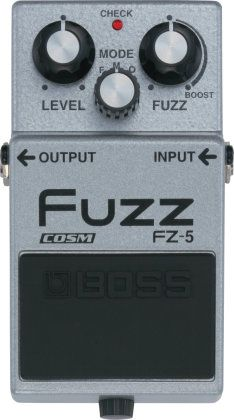 Boss FZ-5 Fuzz Pedal: This pedal replicates the tones of some of the best fuzz pedals of the past. It's perfect for banging out tunes in the garage.