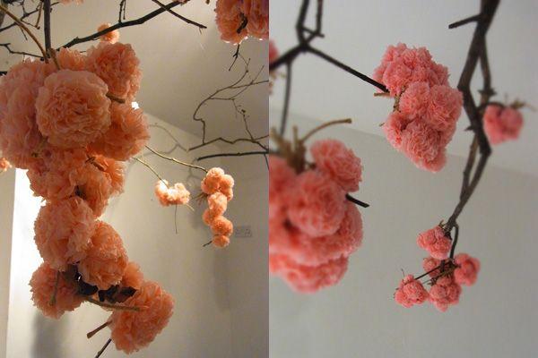 kirschbl ten aus serviettenblumen toll products i love pinterest kirschbl ten. Black Bedroom Furniture Sets. Home Design Ideas