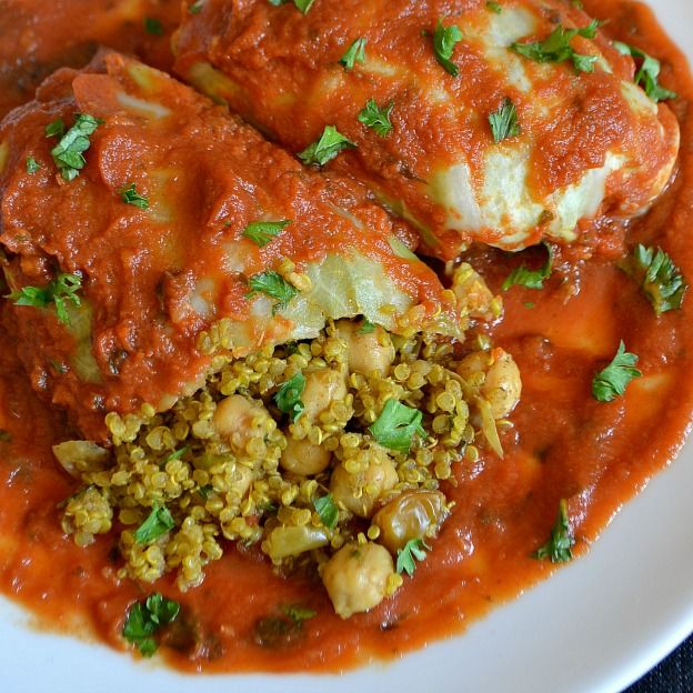 These Moroccan-Spiced Cabbage Rolls are a delicious and healthy winter meal!