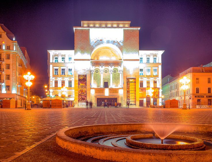 """Today Ihavedecided to share anHDR photo which was captured in the beautiful city of Timisoara on a nice but cold spring night. The building in the photo below, is the well known Opera House and its located in the Victory square which is also the city center. At the time when the photo was captured, … Continue reading """"The Opera House"""""""