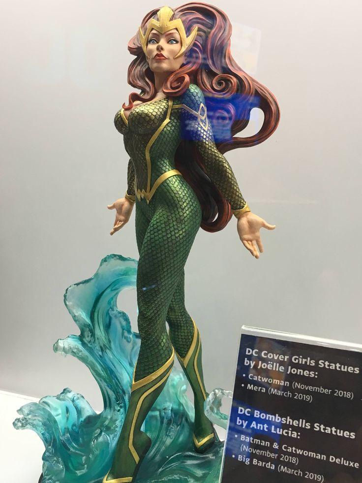 New Dc Cover Girls Mera Statue 2018 Statue Covergirl