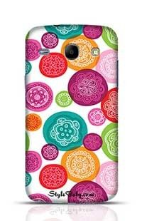 Flower Pink Red Retro Background Pattern Samsung Galaxy Core i8262 Phone Case