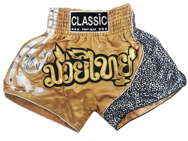 Classic Muay Thai shorts - Thaiboxhosen : CLS-105-Gold http://www.muaythaiboxen.com/Classic-Muay-Thai-shorts-Thaiboxhosen-CLS-005-Gold.html