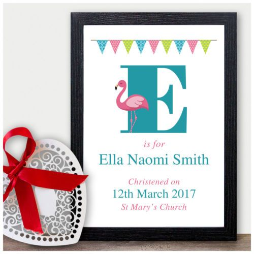 Baby Girl Goddaughter Christening Nursery Gift Personalised Baby Name Gift