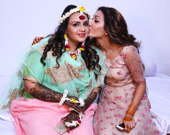 Prettiest bride - sister's mehndi night