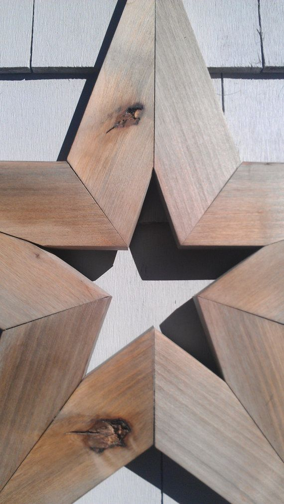 HANDMADE PRIMITIVE BARNWOOD STAR    STAR is made of recycled barn wood. This STAR measures 24 wide, 24 tall and 1 deep. STAR has a sawtooth