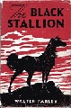 The Black Stallion  By Walter Farley  Shipwrecked on an island together, an Arabian horse and a boy bond.  Once rescued, they go on to win a match race against the top Thoroughbreds in the nation.