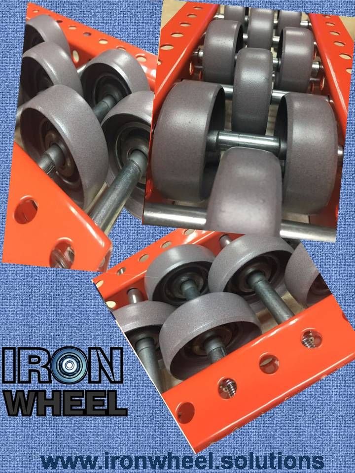 iron wheel, rack dinamico, sistemas de almacenaje, rack metalico,  rack industriales, iron wheel products. rodaja metalica, gravity flow rack, pallet flow rack,gravity rack