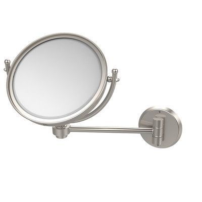 Allied Brass Universal Extendable Mirror Magnification: 4x, Finish: Satin Nickel