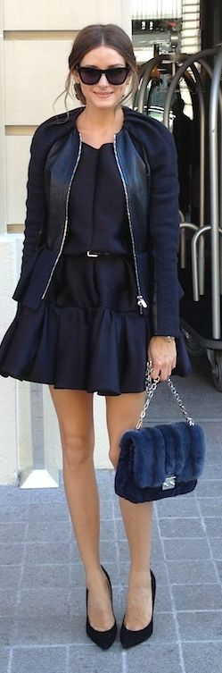 all black // olivia palermo