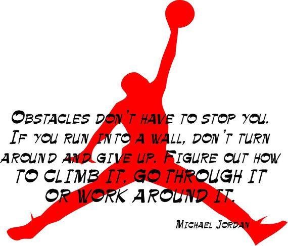 Michael Jordan, Inspirational Quote, Basketball - Decal, Sticker, Vinyl, Wall, Home, Bedroom Decor