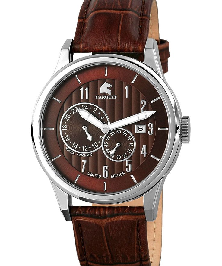 Trusted source for brand watches and discounted prices like this Carucci automatic watch €220,- for €109,- www.megawatchoutlet.com