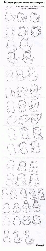 как рисовать аниме животных