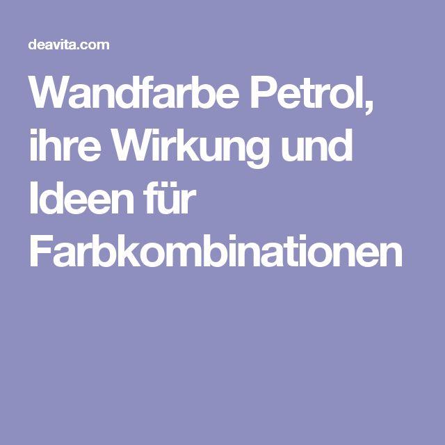 Wandfarbe petrol wirkung
