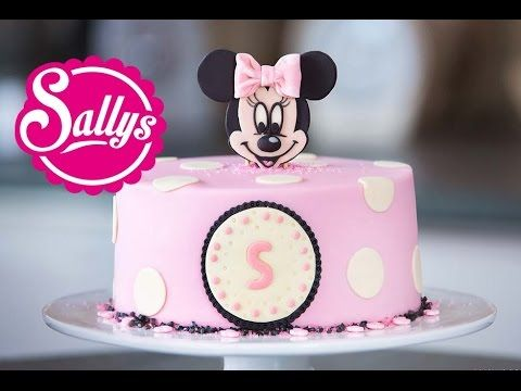 Minnie Mouse Torte / Motivtorte / Fondant Tutorial / mit Aufsteller - YouTube