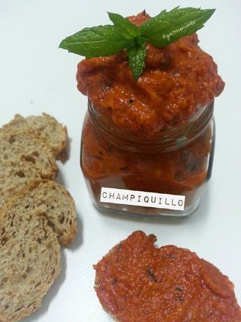 ChampiQuillo (Paté de Champiñón y Piquillos)   Gastrocenicienta