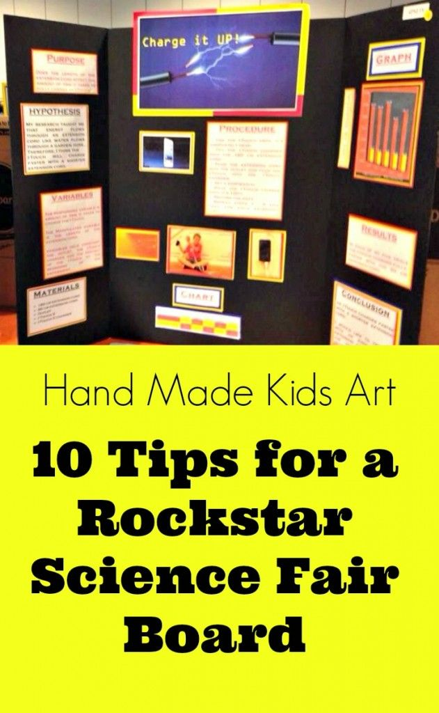 Tips to create a Rockstar Science Fair Project from Hand Made Kids Art.