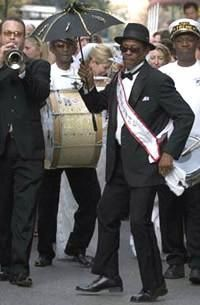 Treme Brass Band, New Orleans. Grand Marshal Uncle Lionel