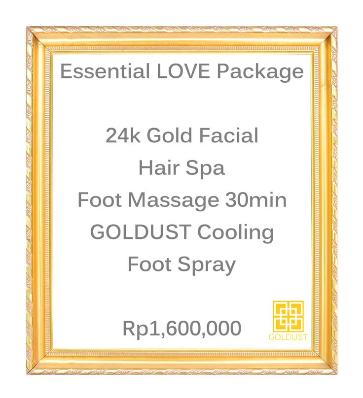 GOLDUST Specials for the whole month of February! | Feel like Gold | Gold | 24k Gold Facial | Massage | Foot Therapy | Spa | Day Spa | Beauty | Relax | Pampering | Canggu | Bali