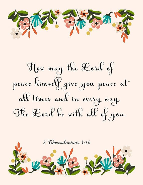 Bible Quote Art  2 Thessalonians 316  8.5X11 by Thegoofymuse, $4.95
