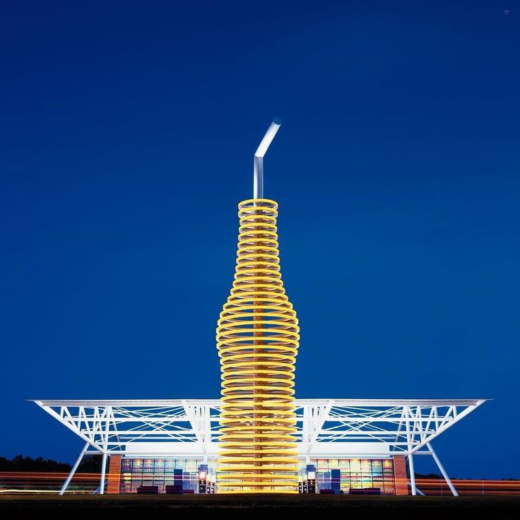 LEDs To Create A Soda Bottle Sculpture Signaling The Reinvention Of Roadside Burger Joint Along Route Elliotts Namesake Firm Received Best